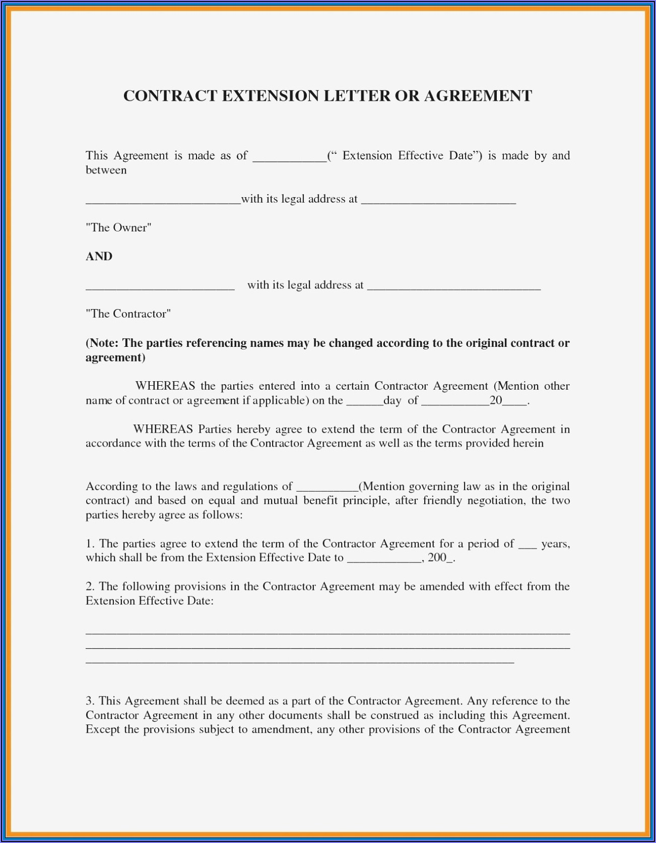 Partnership Agreement Contract Template Pdf