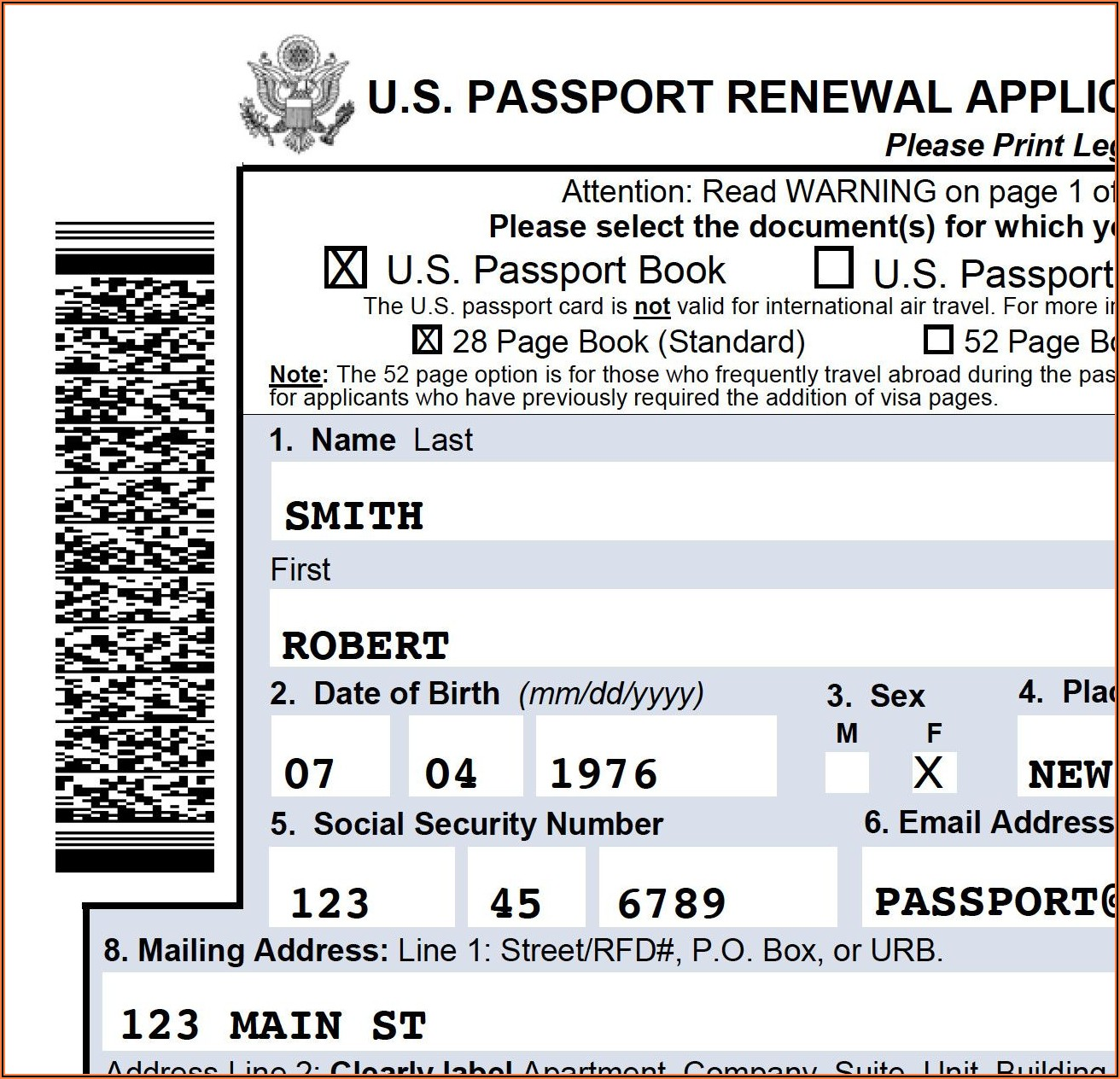 Passport Renewal Form Ds 82