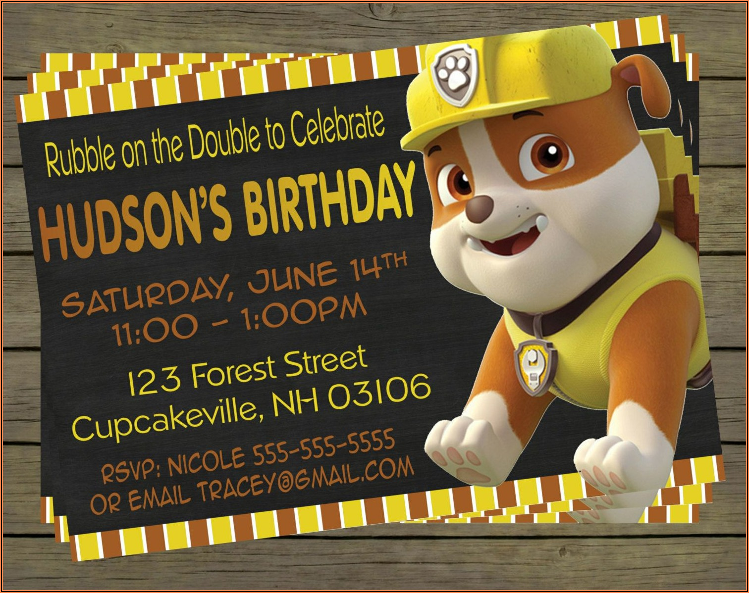 Paw Patrol Birthday Invitations Ideas