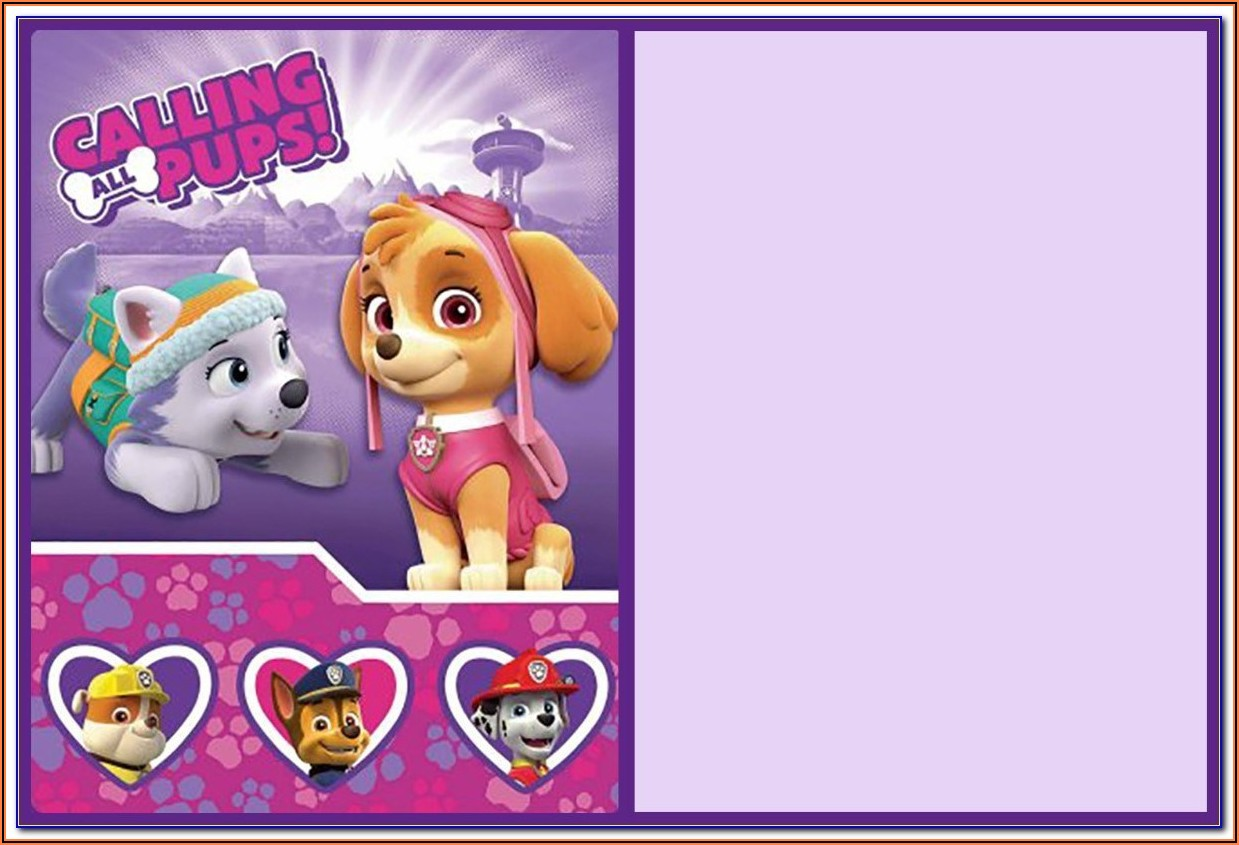 Paw Patrol Birthday Invitations