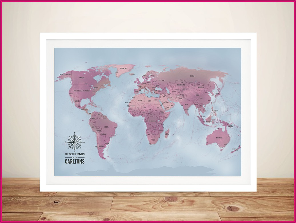 Personalised World Travel Push Pin Map