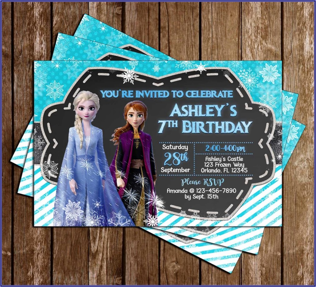 Personalized Frozen 2 Birthday Invitations