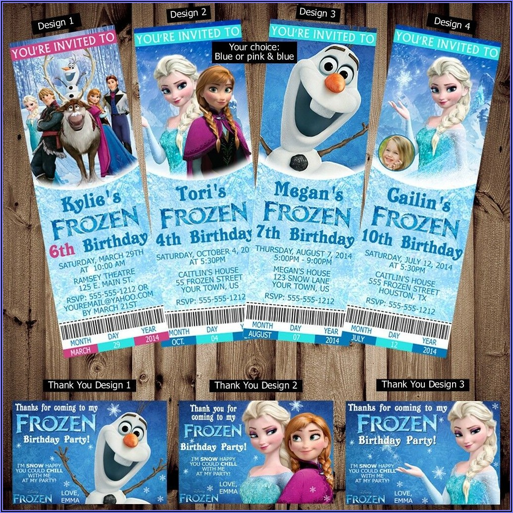 Personalized Frozen Birthday Invitations