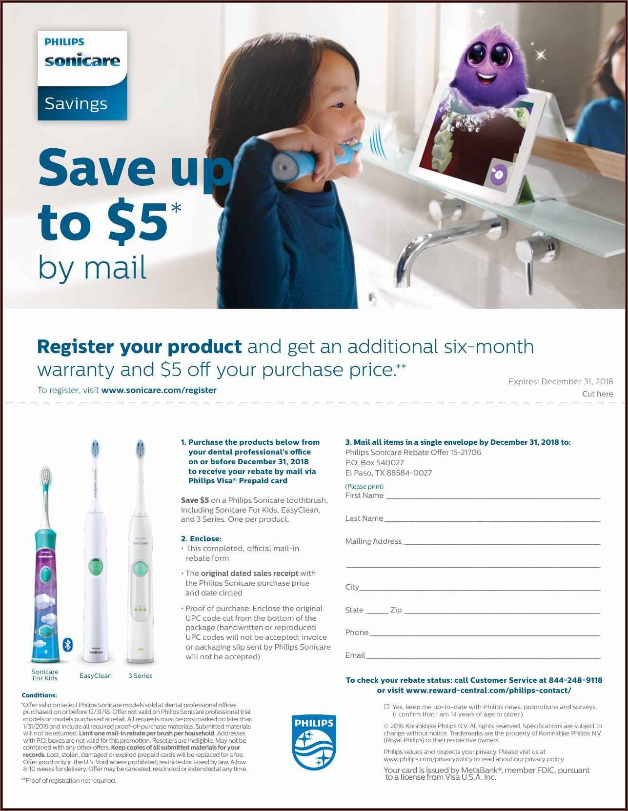 Philips Sonicare Rebate Form 2020 Kohl's