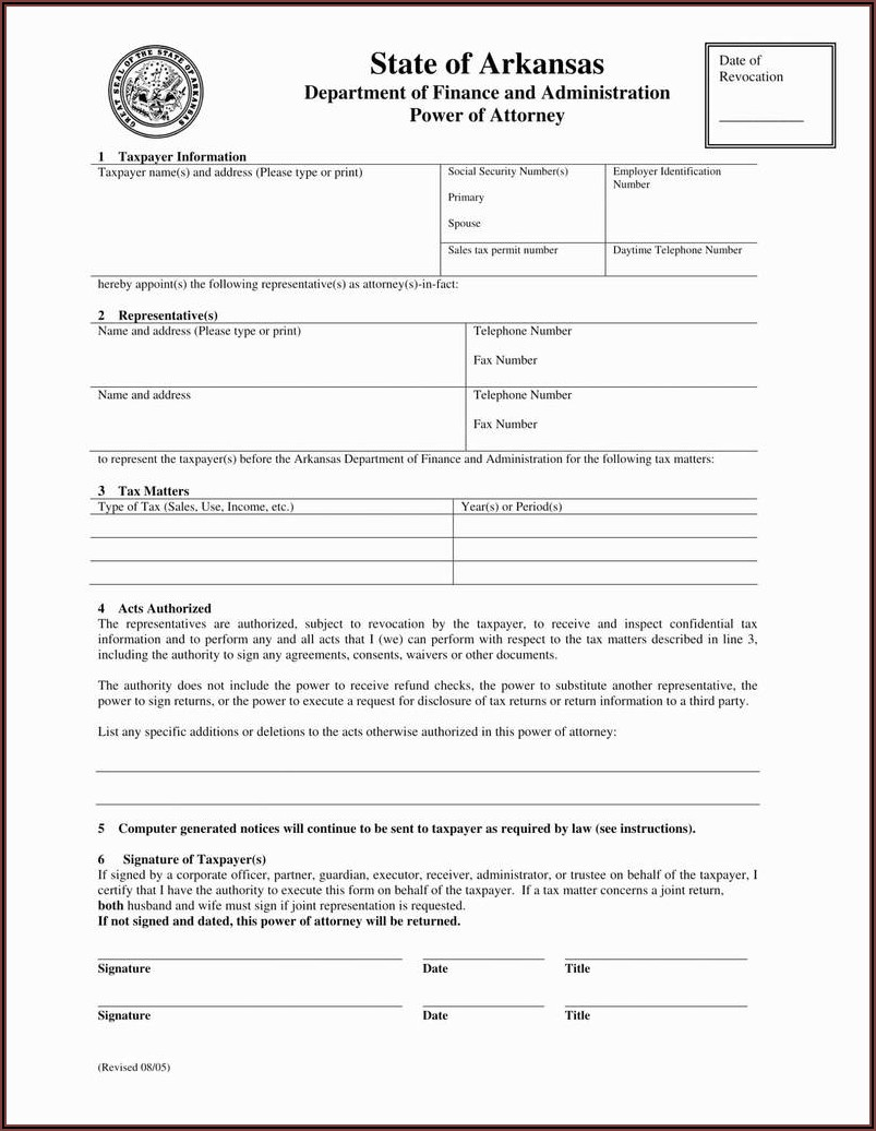 Power Of Attorney Forms Nj