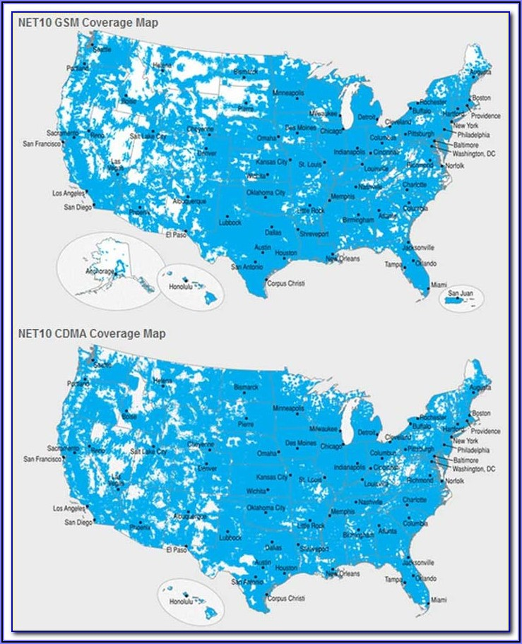 Prepaid Cell Phone Coverage Map