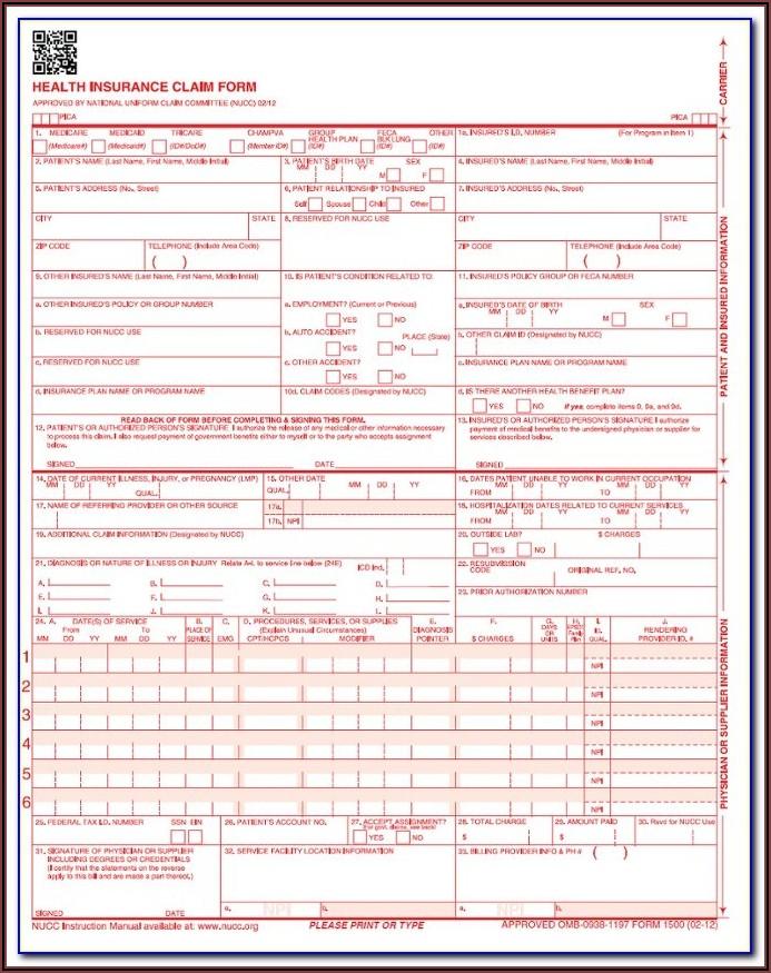 Print Hcfa 1500 Form Free