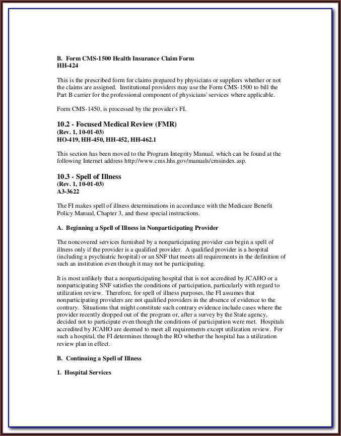 Print Medicare Form 1490s