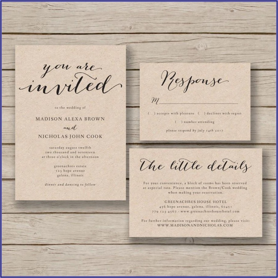 Printable Free Wedding Invitation Templates For Word
