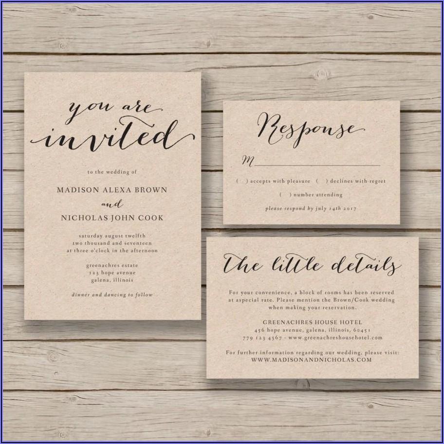 Printable Free Wedding Invitation Templates For Word
