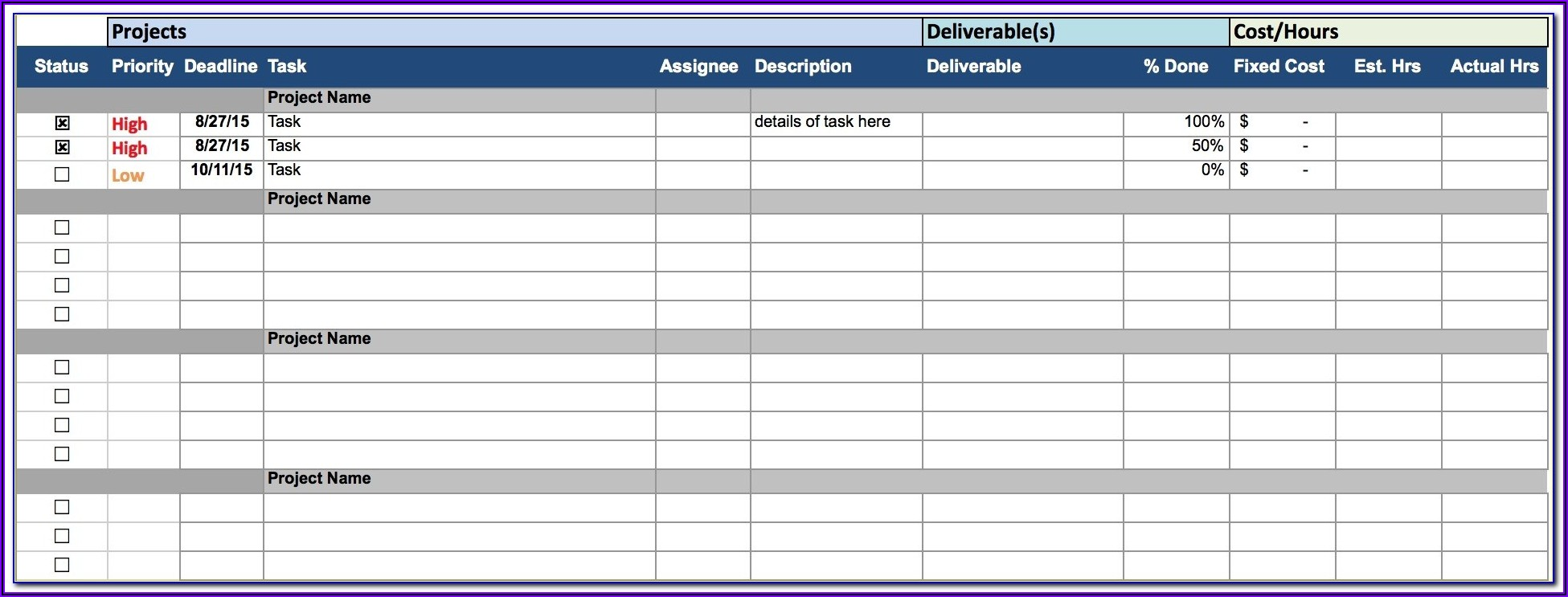 Project Wbs Template Excel