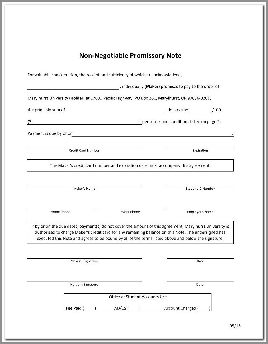 Promissory Notes Templates Free