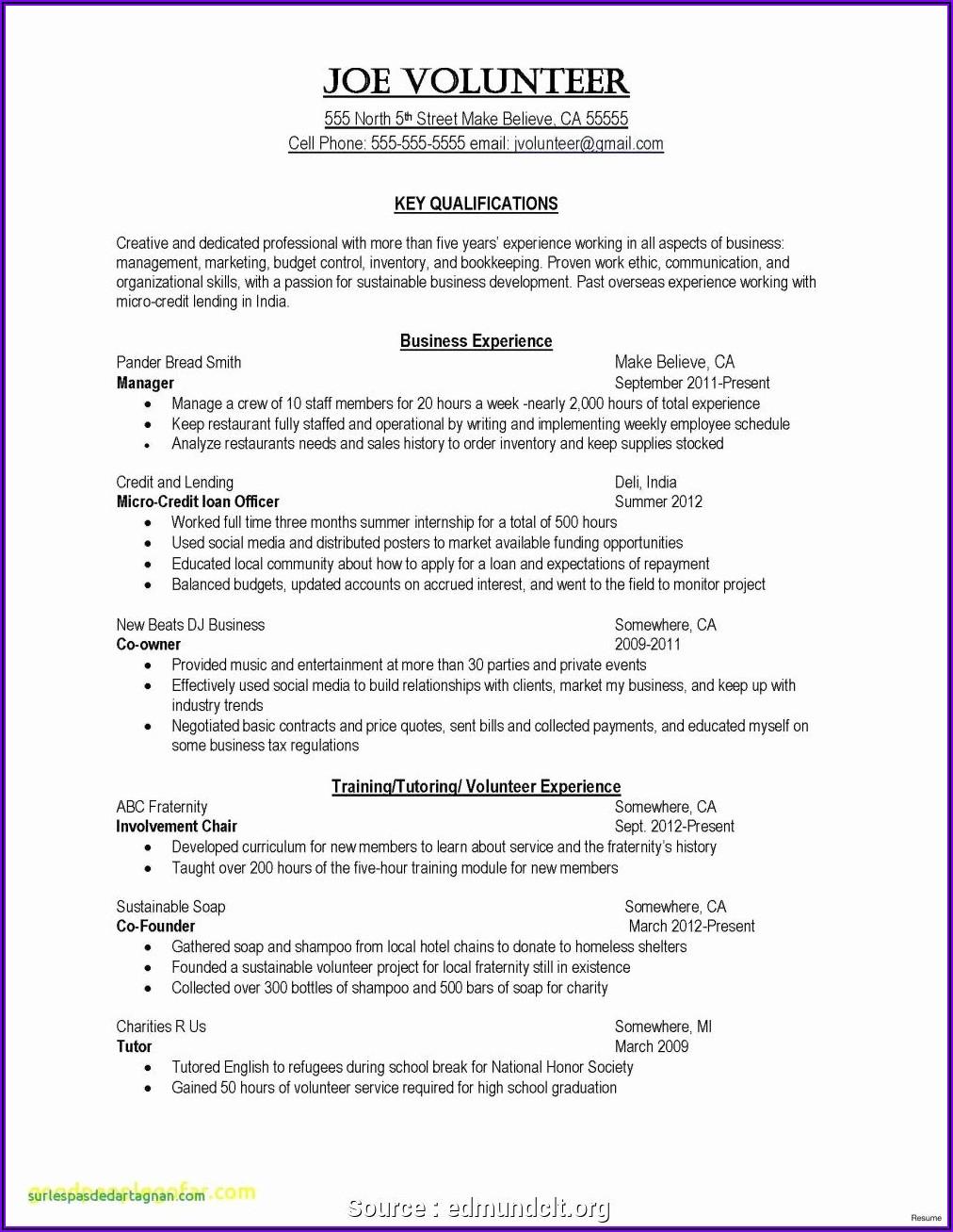 Proposal Staffing Plan Template
