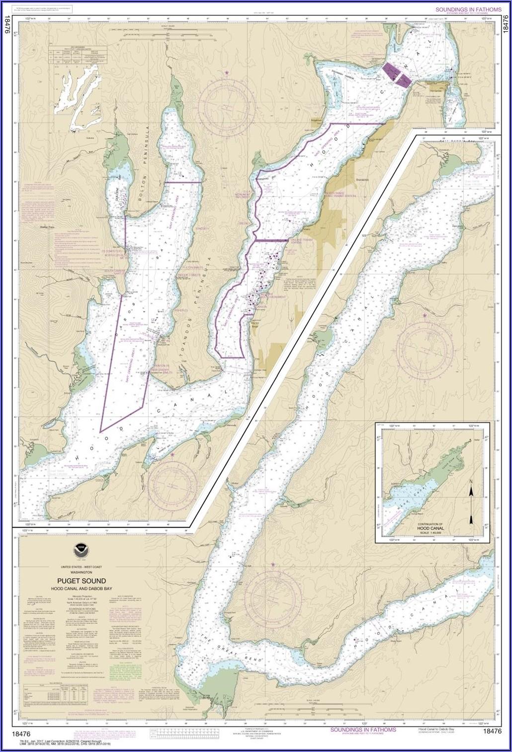 Puget Sound Marine Map