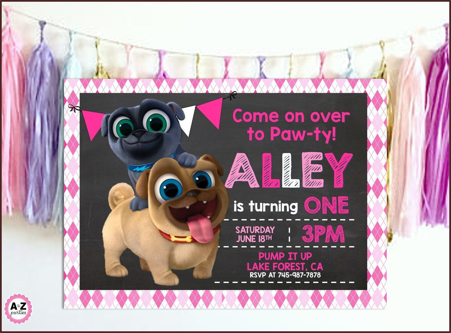 Puppy Dog Pals Birthday Invitations