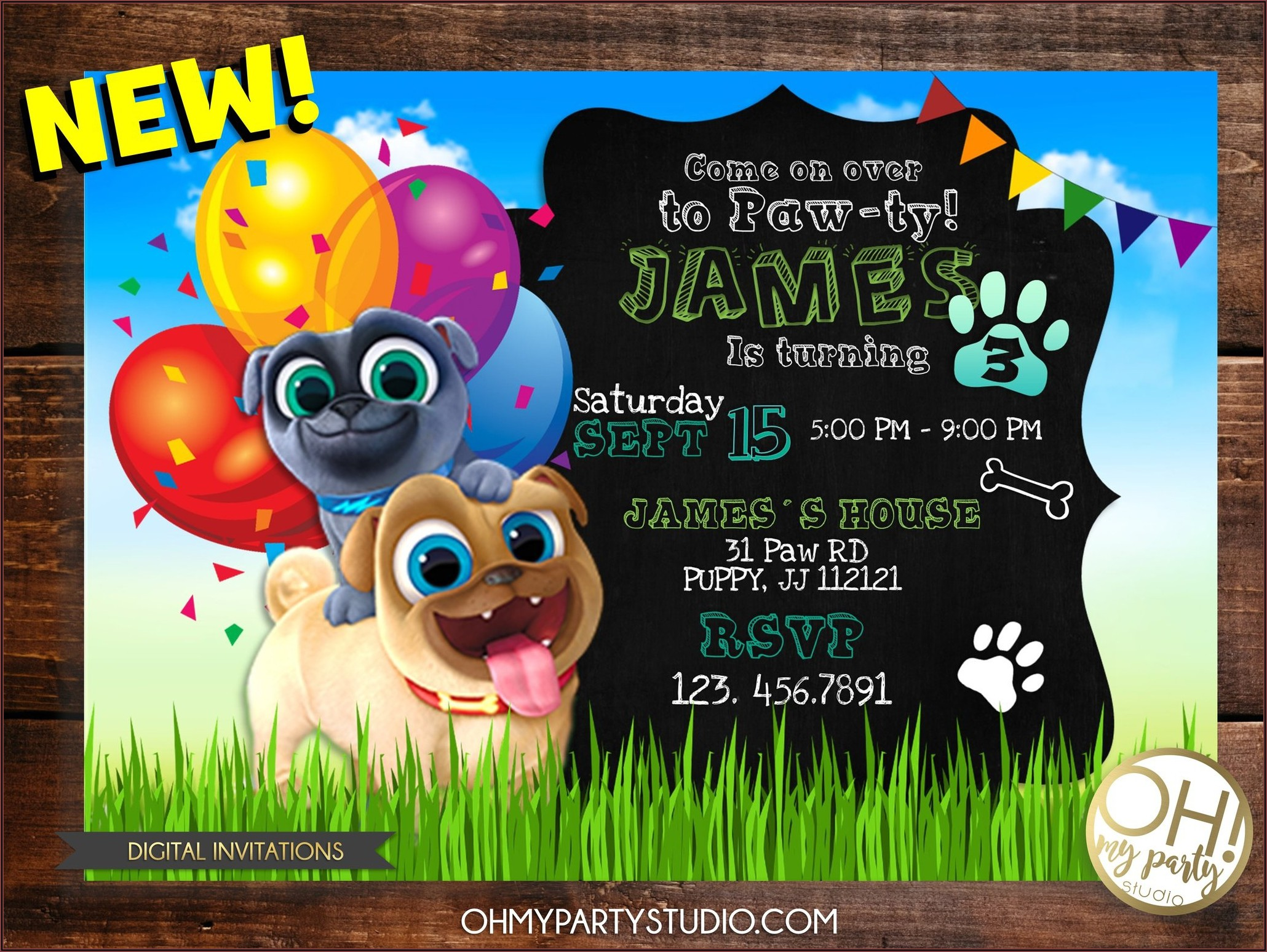 Puppy Dog Pals Invitations