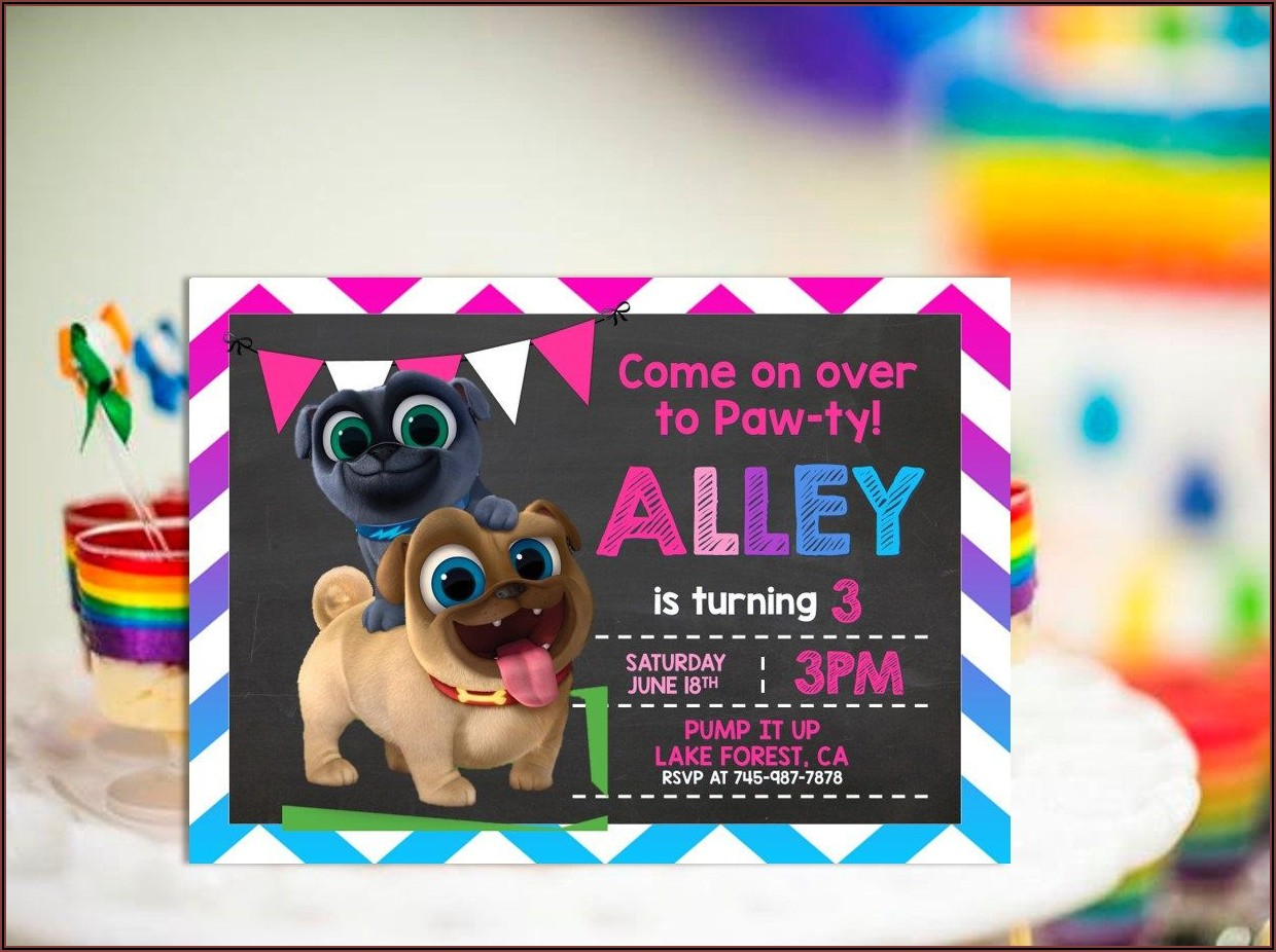 Puppy Dog Pals Printable Invitations