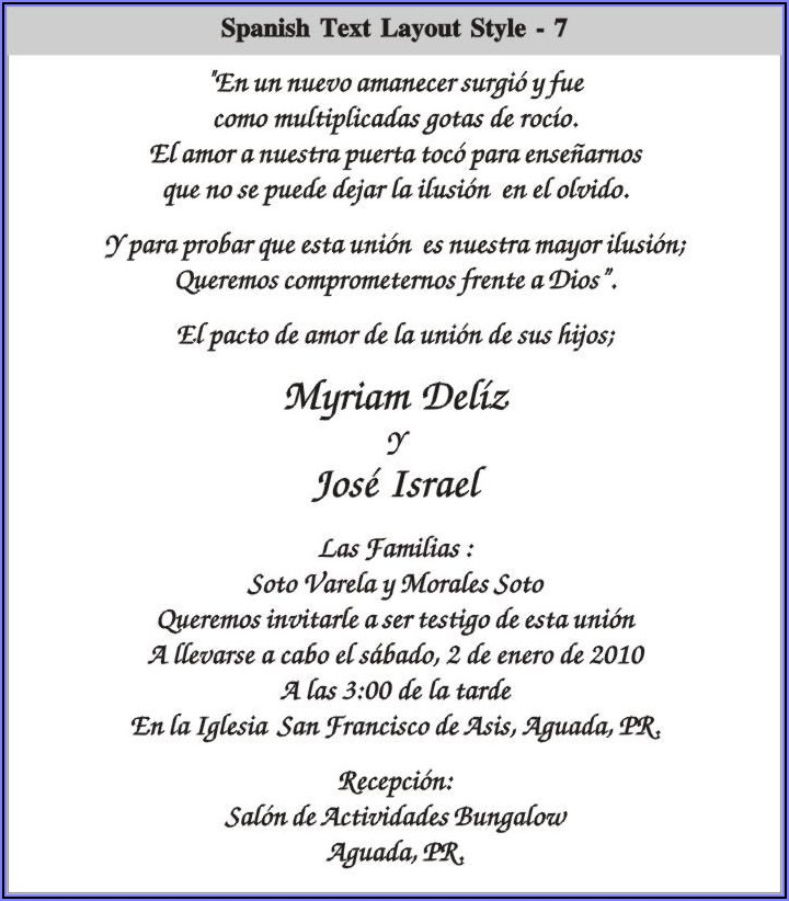 Quince Anos Invitation Wording In Spanish