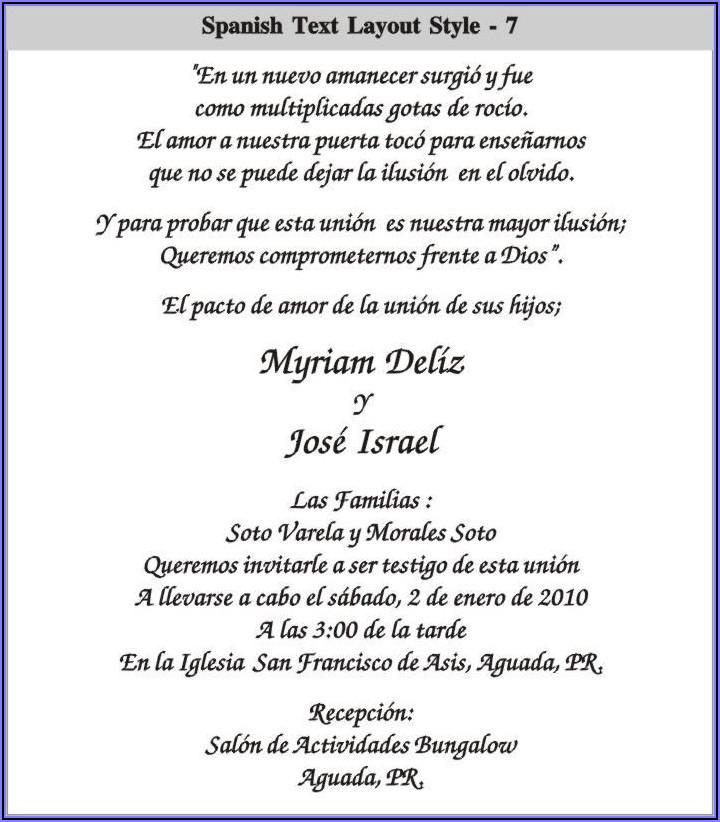 Quince Anos Invitation Wording In Spanish