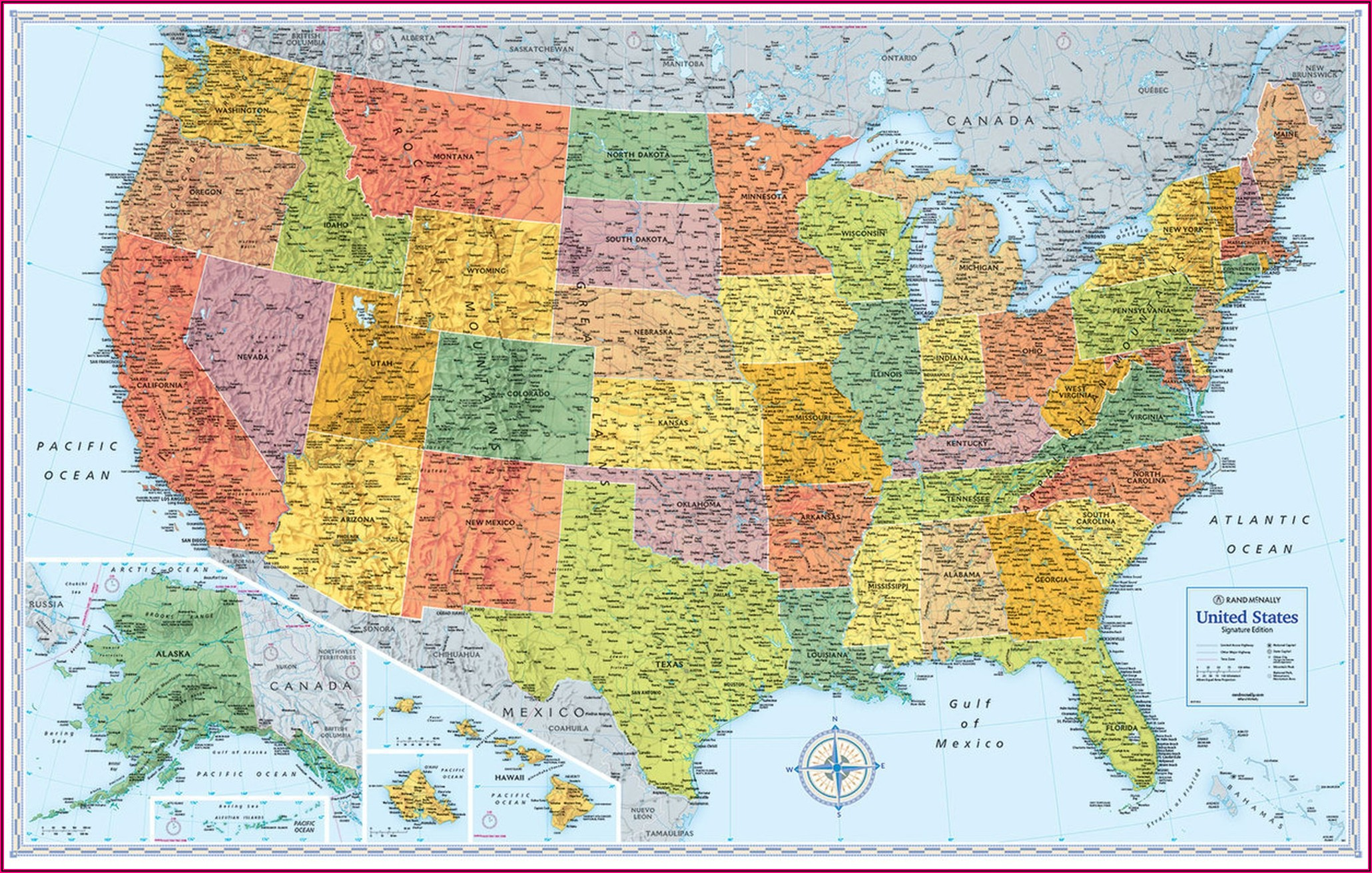 Rand Mcnally Laminated Folding Maps