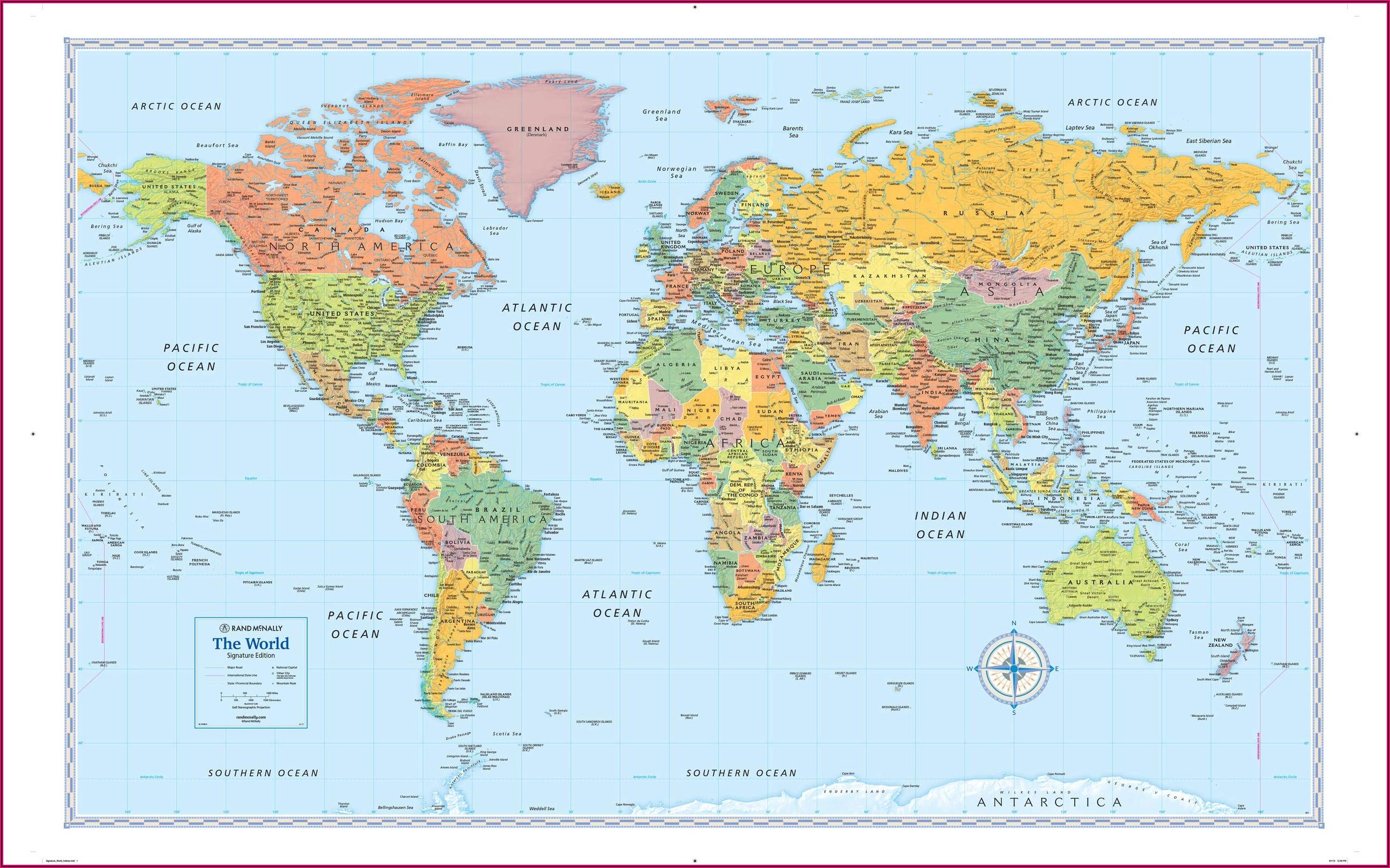 Rand Mcnally Laminated Wall Map