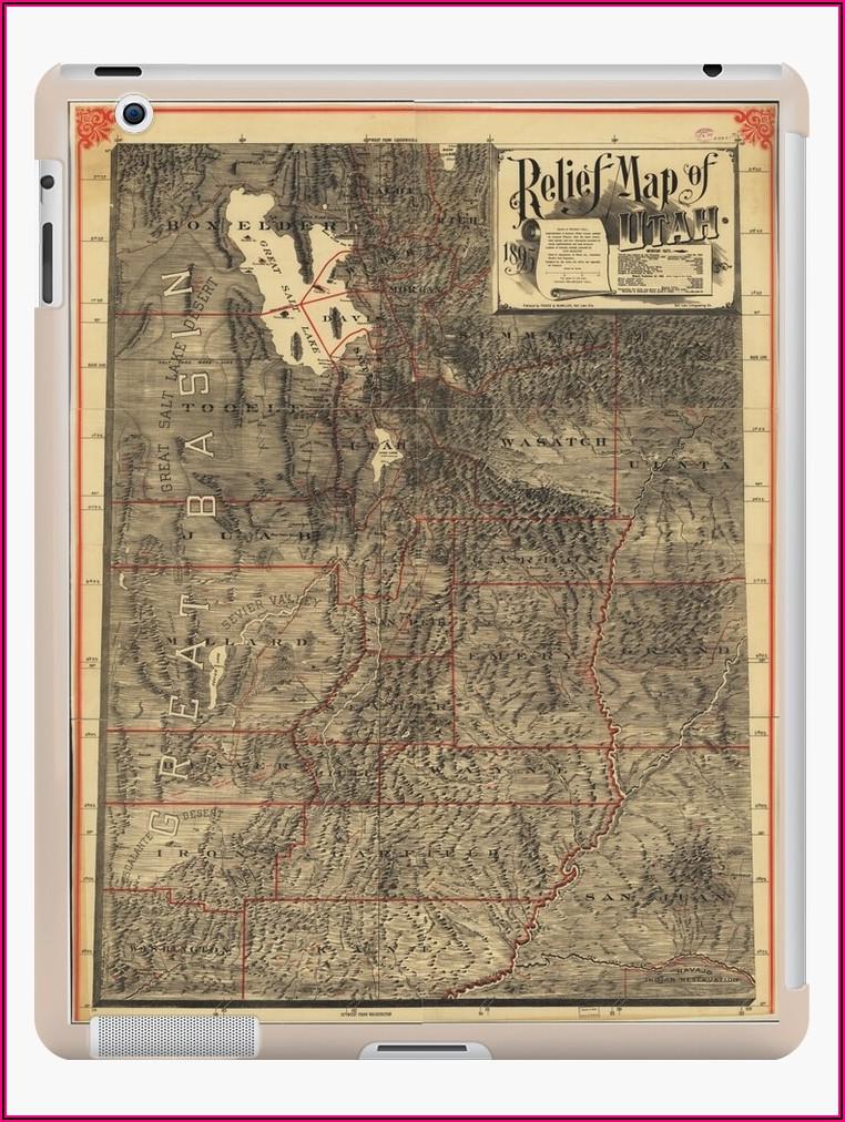 Relief Map Of Utah