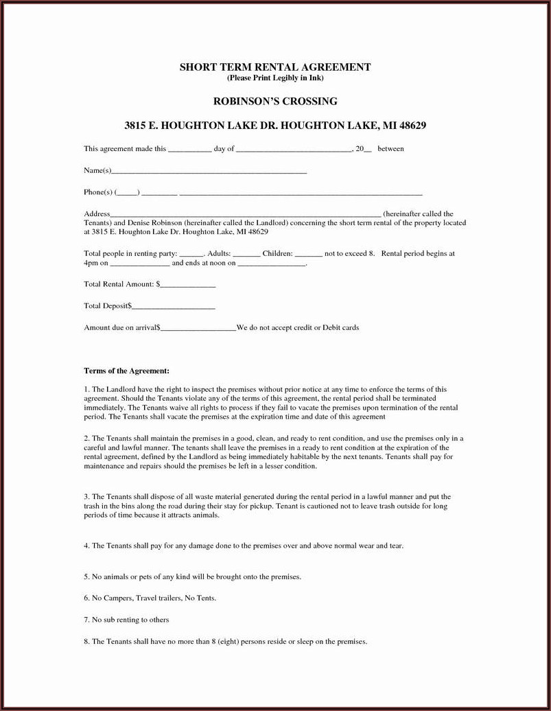 Residential Rental Contract Form 410 T