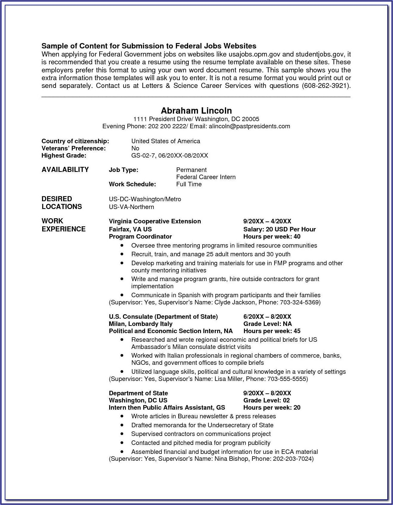 Resume Template American Standard