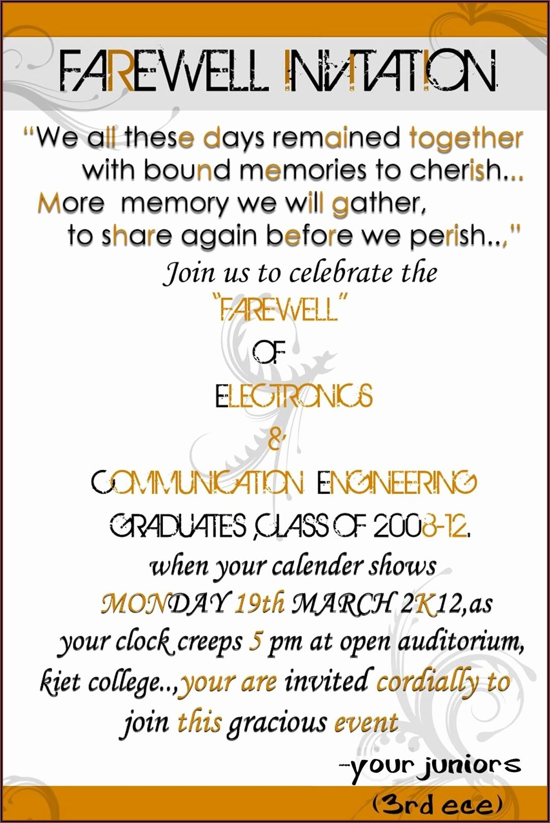 Retirement Luncheon Invitation Wording For Coworker