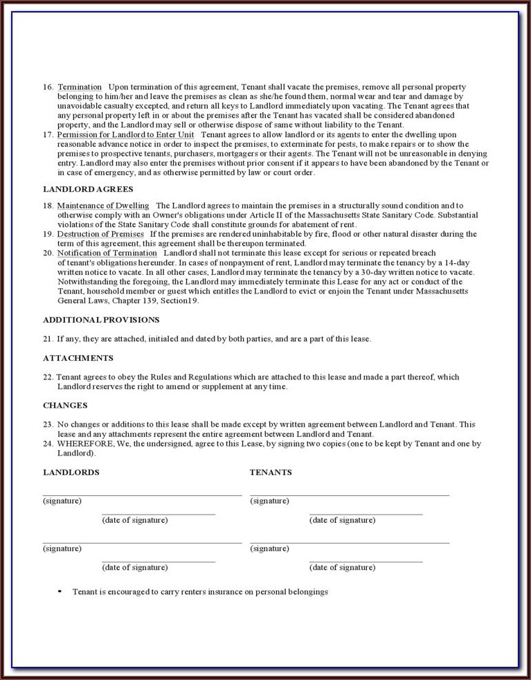 Rha Standard Form Apartment Lease 2003