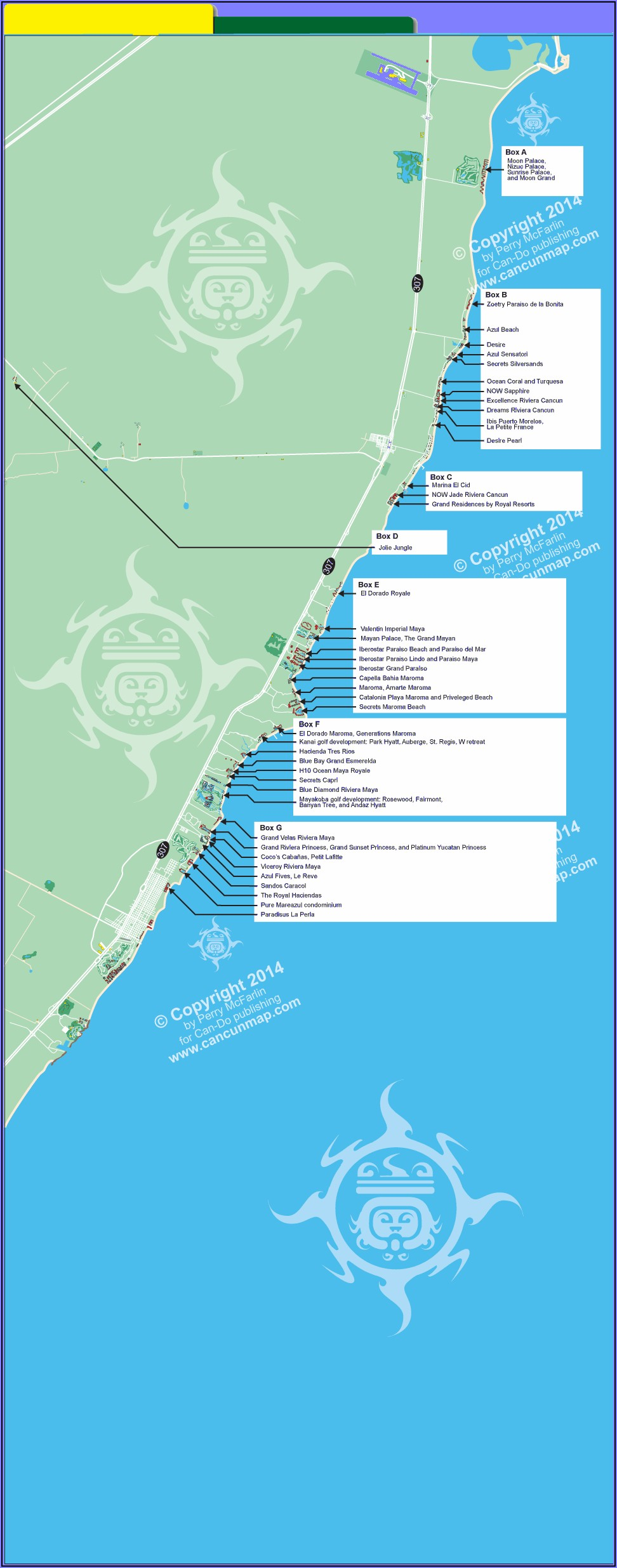 Riviera Maya Hotel Locations Map