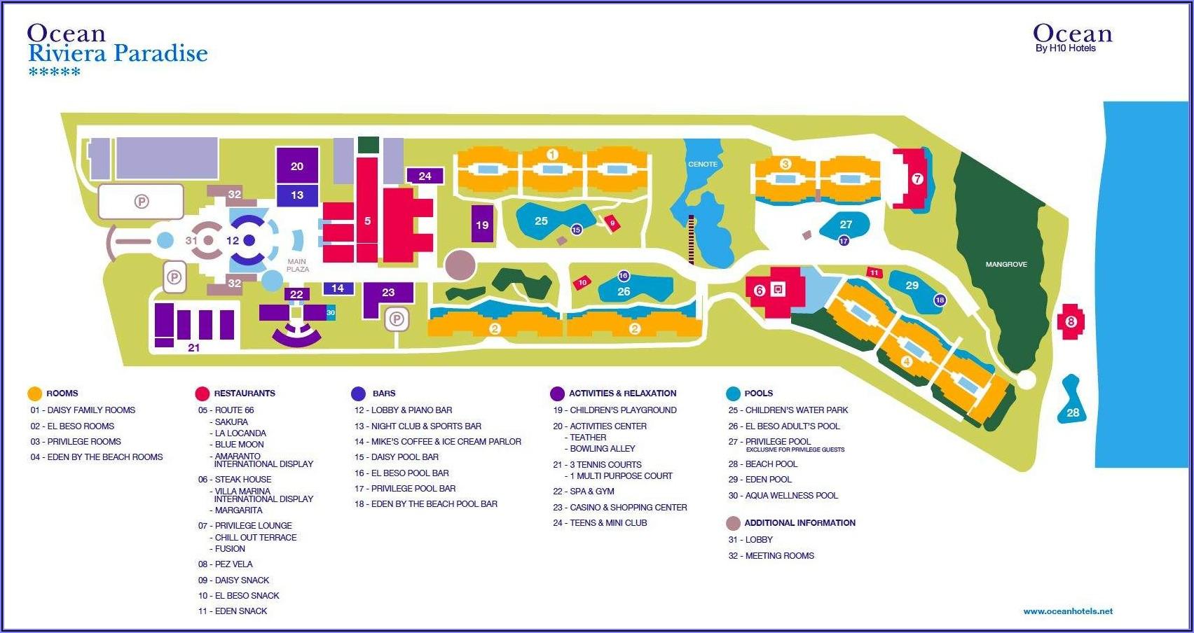 Riviera Maya Hotel Map 2020