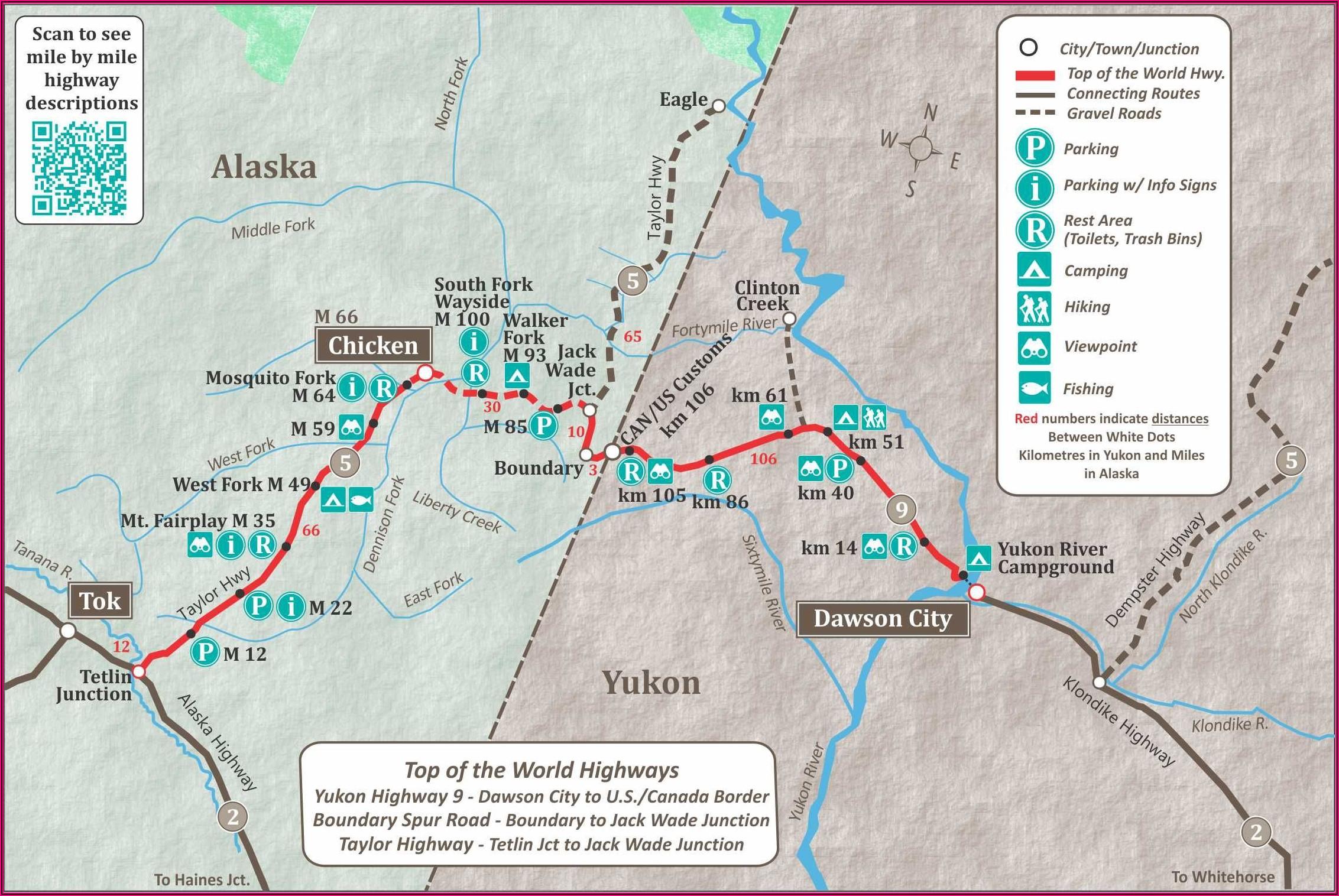 Road Map Of Alaska Highway