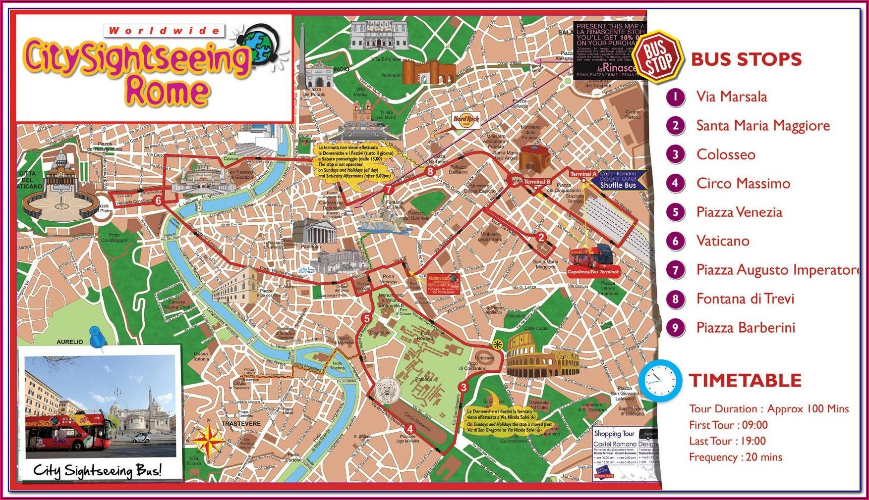 Rome Hop On Hop Off Bus Route Map Pdf