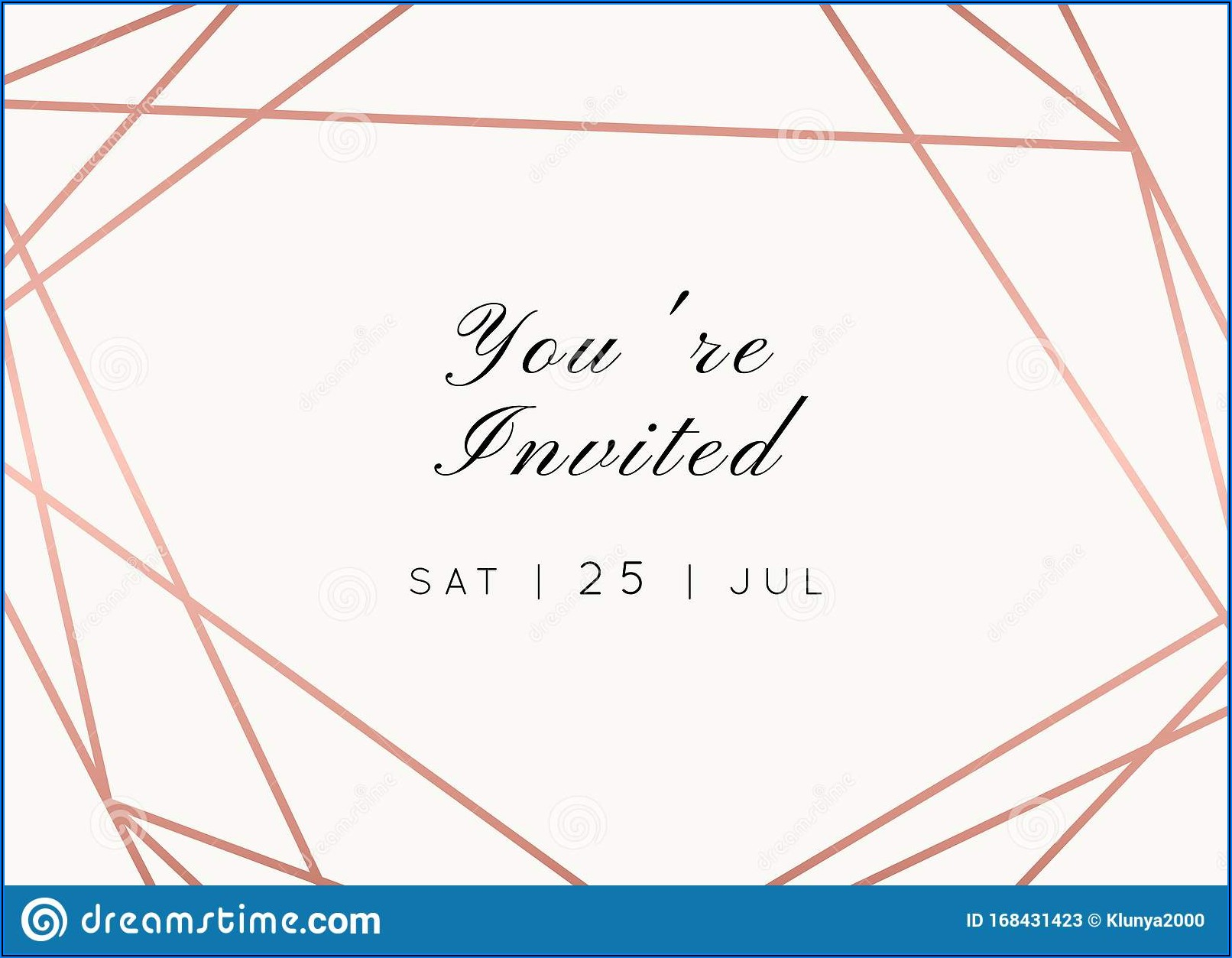 Rose Gold Bridal Invitations