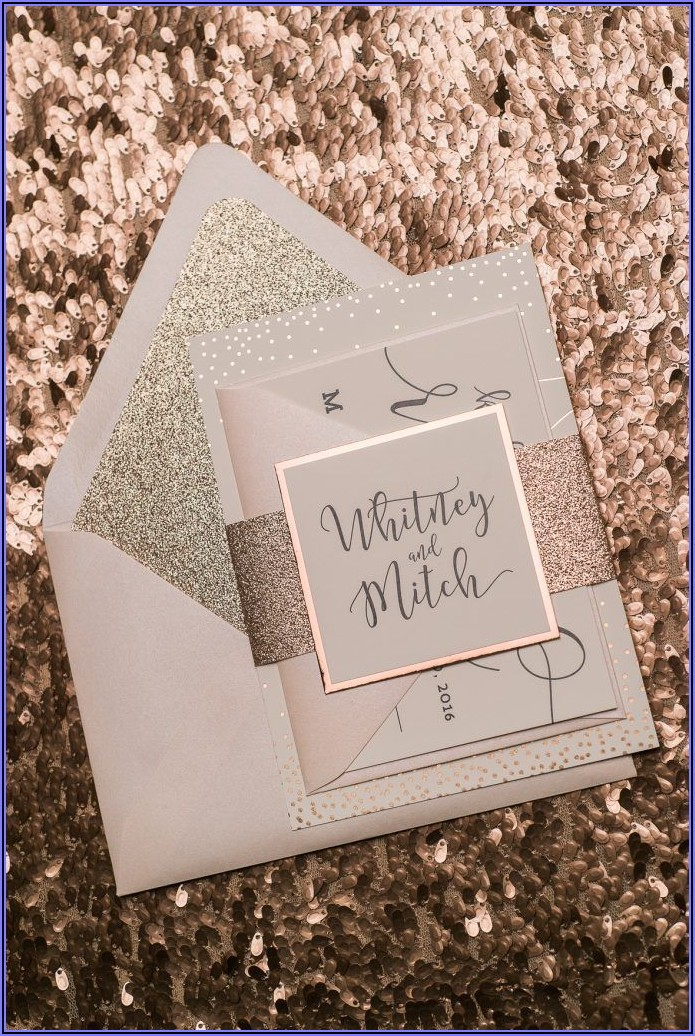Rose Gold Invitations Wedding