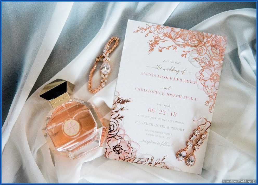 Rose Gold Wedding Invitation Ideas