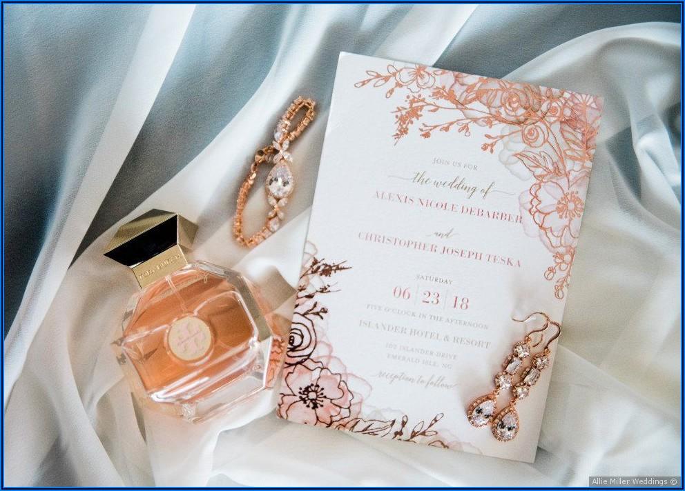 Rose Gold Wedding Invitation Ideas