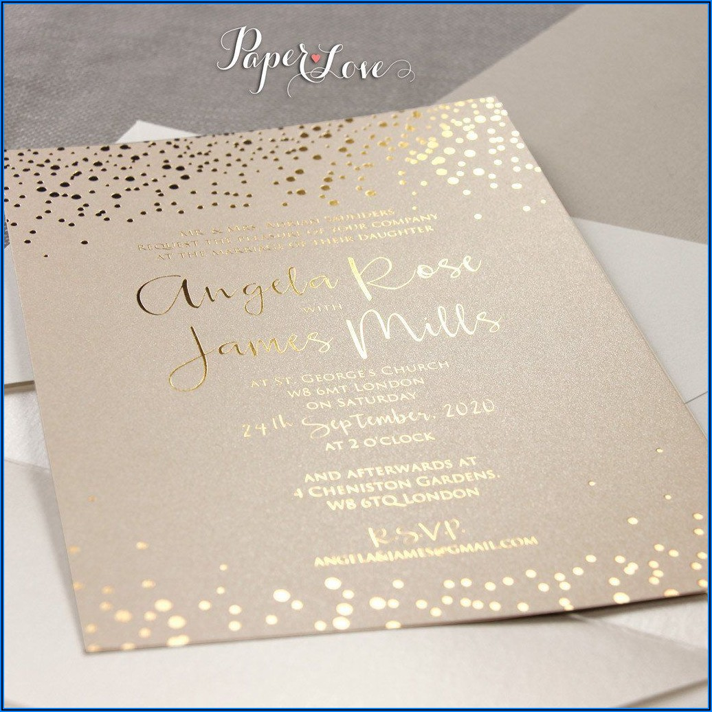 Rose Gold Wedding Invitations Canada