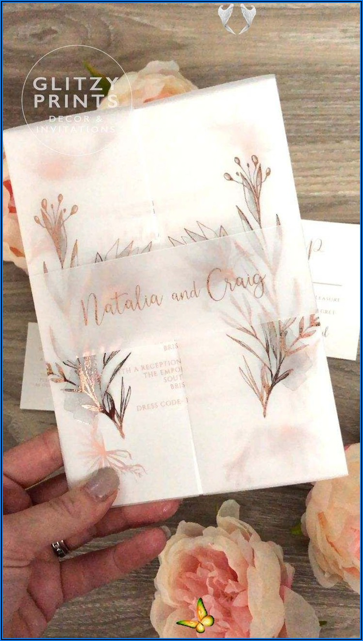 Rose Gold Wedding Invitations Pinterest
