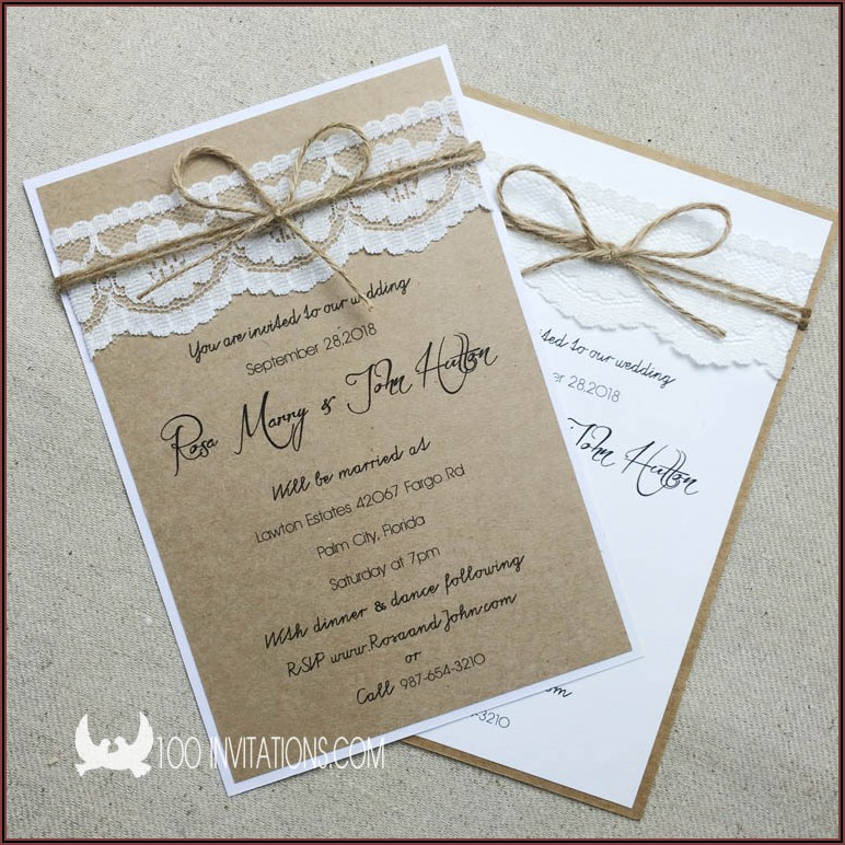Rustic Wedding Invitations Australia