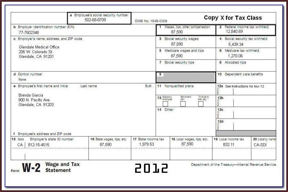 Sample Form 1099 Ssa