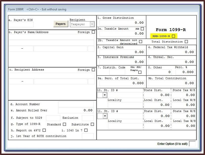 Sample Form 1099s