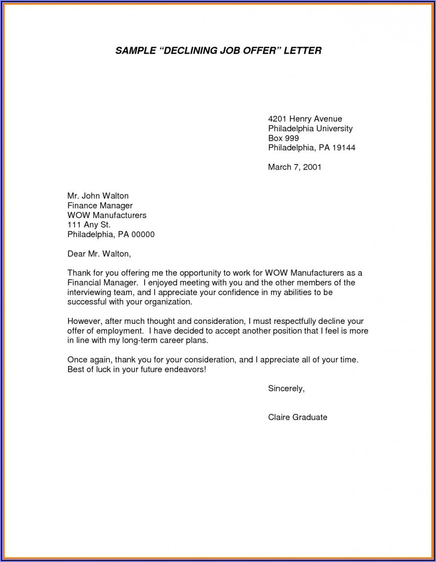 Sample Job Offer Letter Template Uk Free