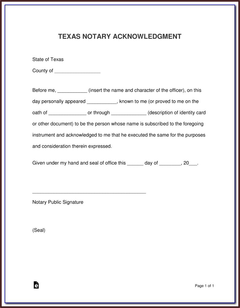 Sample Notary Forms