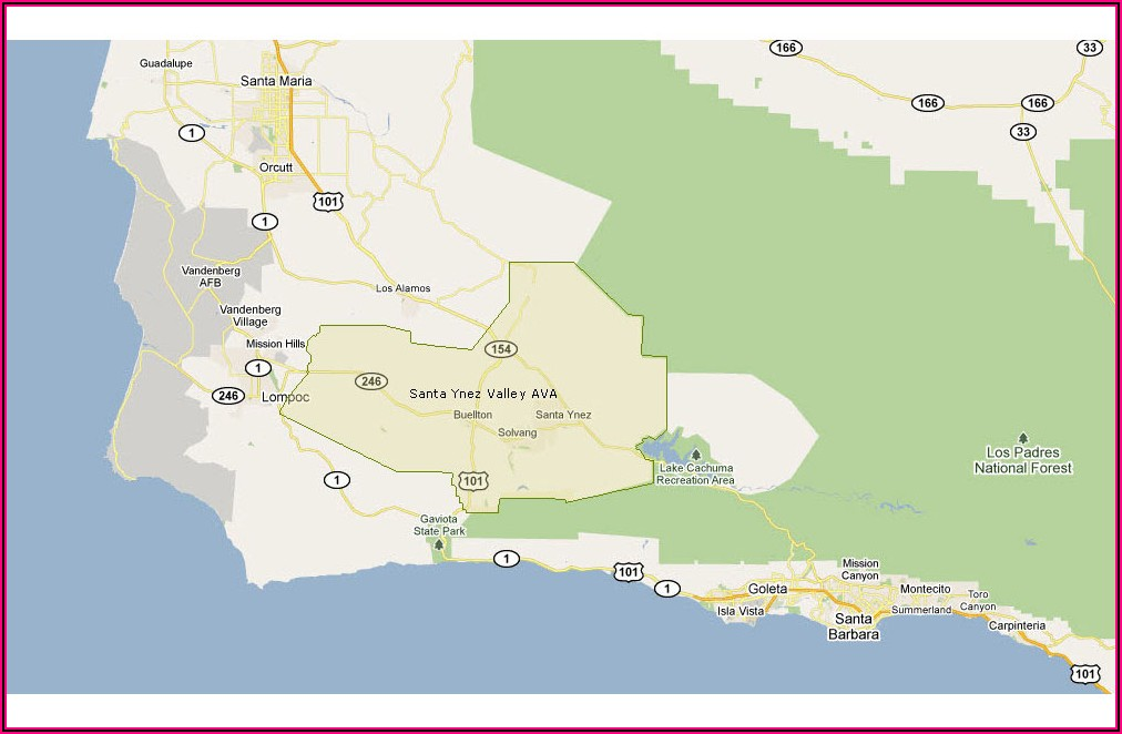 Santa Ynez Wine Trail Map