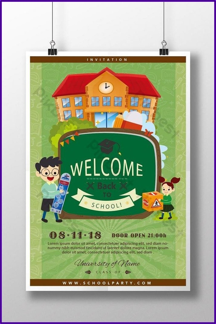 School Open Day Invitation Template