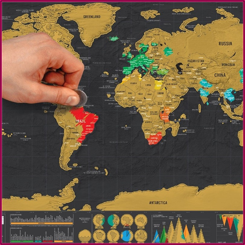 Scratch Off Travel Wall Map