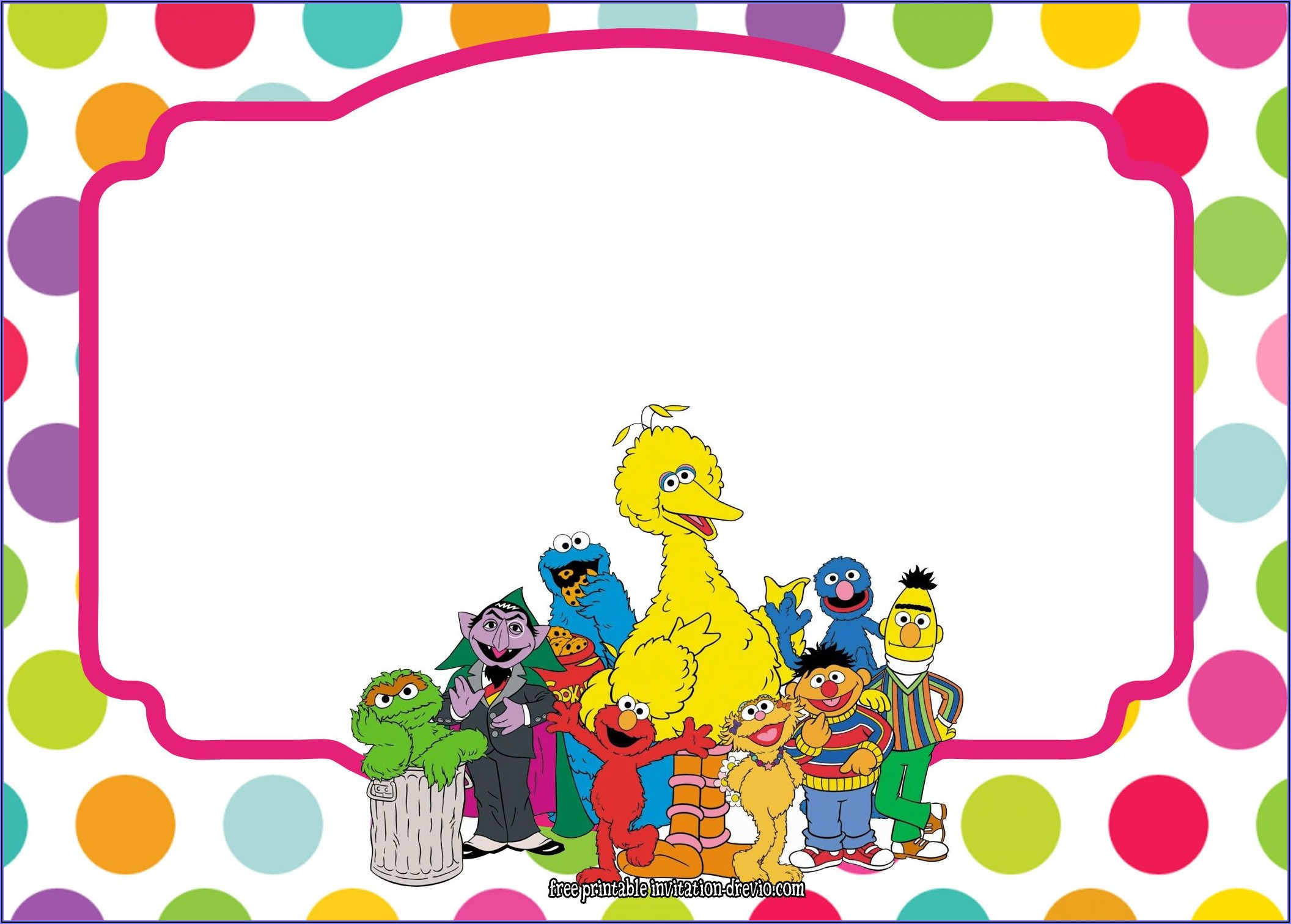 Sesame Street Birthday Invitation Free Download