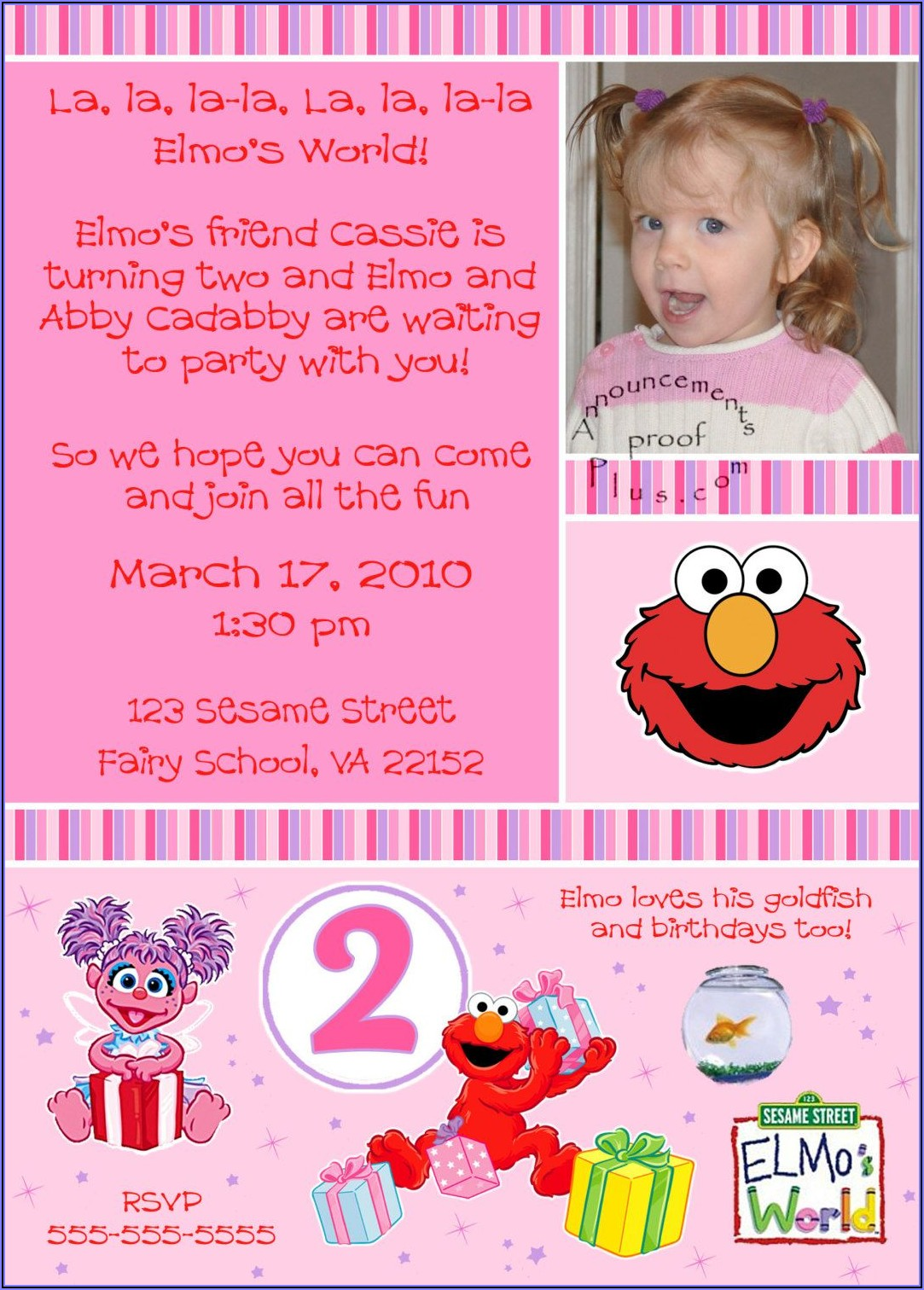 Sesame Street Birthday Invitation Wording